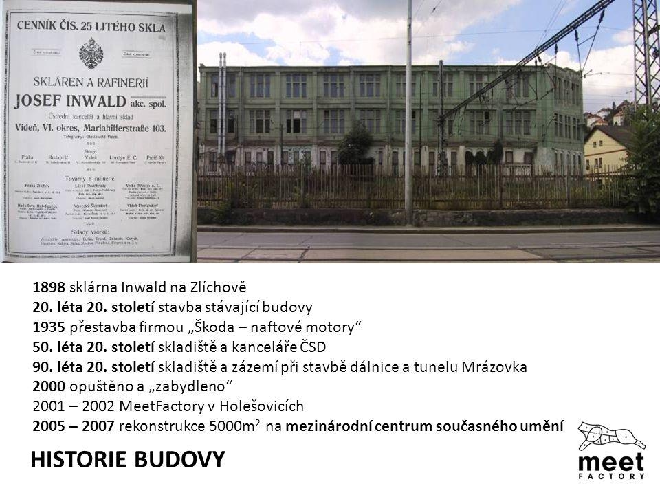 HISTORIE BUDOVY 1898 sklárna Inwald na Zlíchově 20.