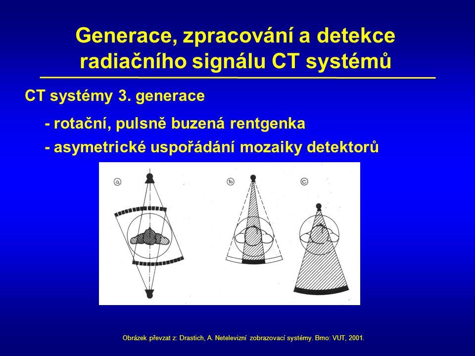 Generace, zpracování a detekce radiačního signálu CT systémů CT systémy 3.