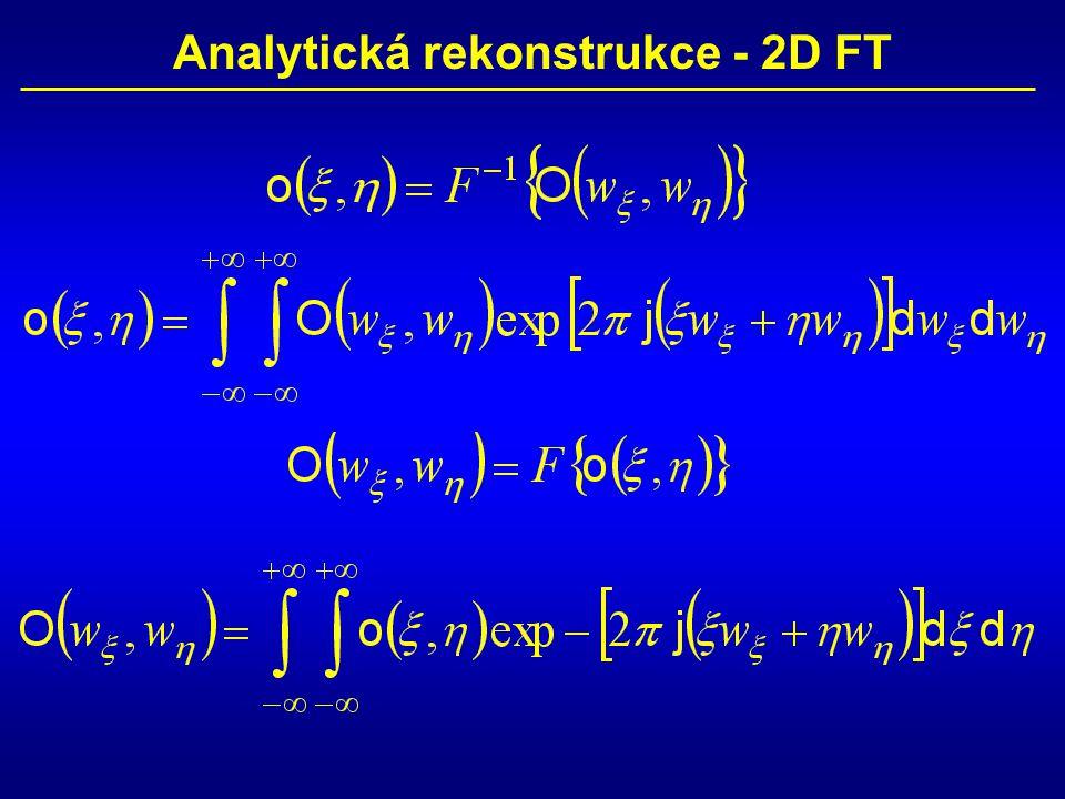 Analytická rekonstrukce - 2D FT