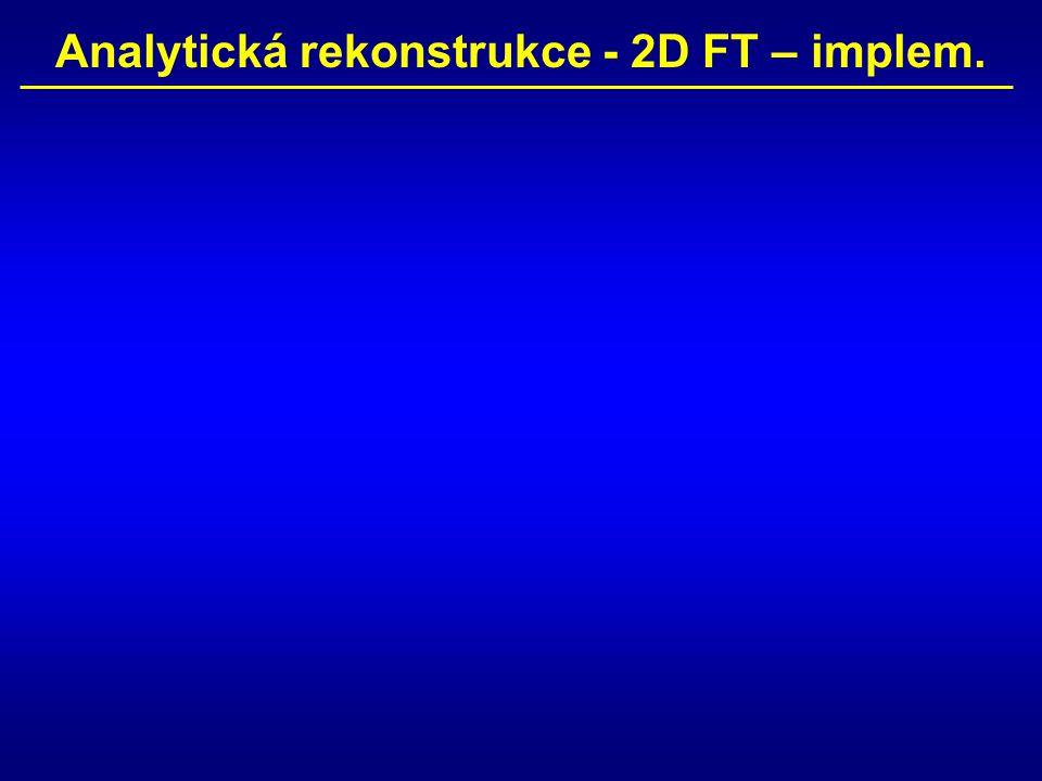 Analytická rekonstrukce - 2D FT – implem.