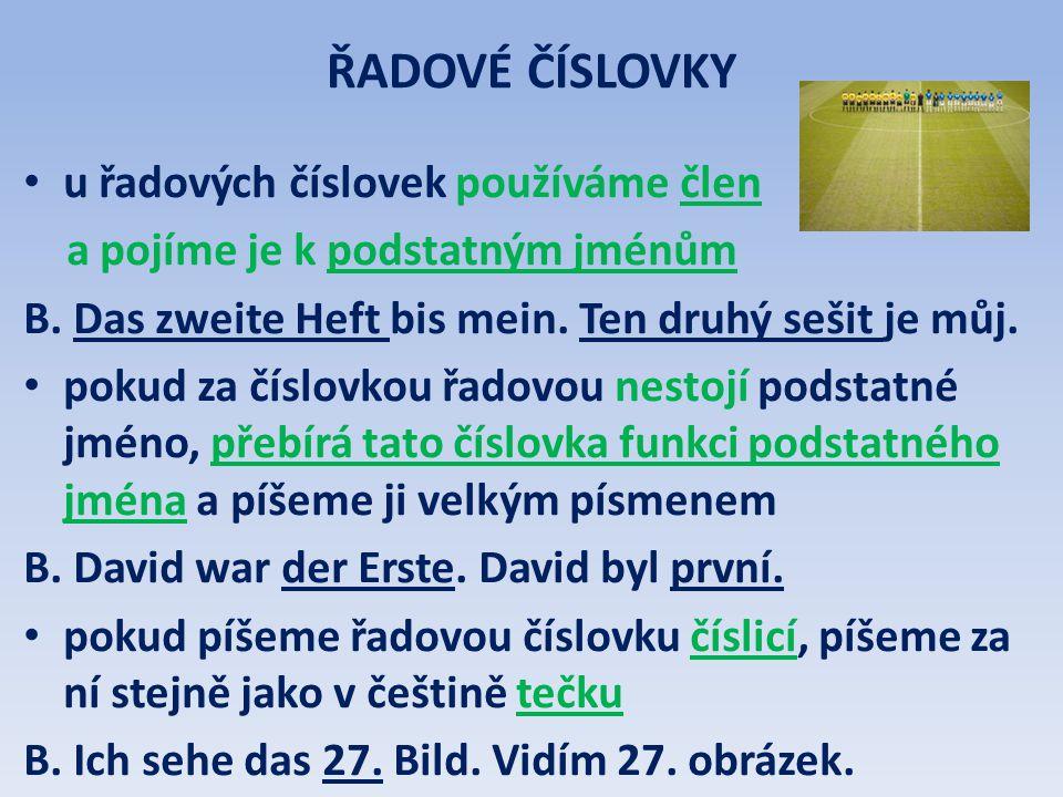 ŘADOVÉ ČÍSLOVKY: (1.– 20.) 1.