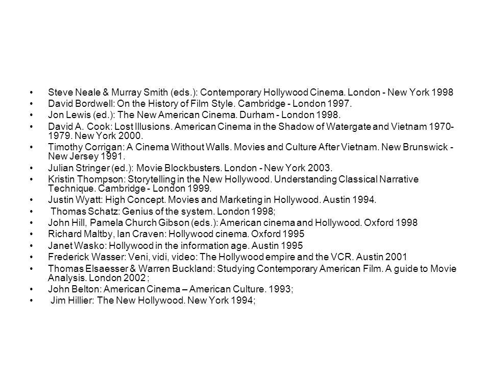 KLASICKÝ HOLLYWOOD POSTKLASICKÝ HOLLYWOOD 1917 - (1960) od: (1960) (The Classical Hollywood Cinema.