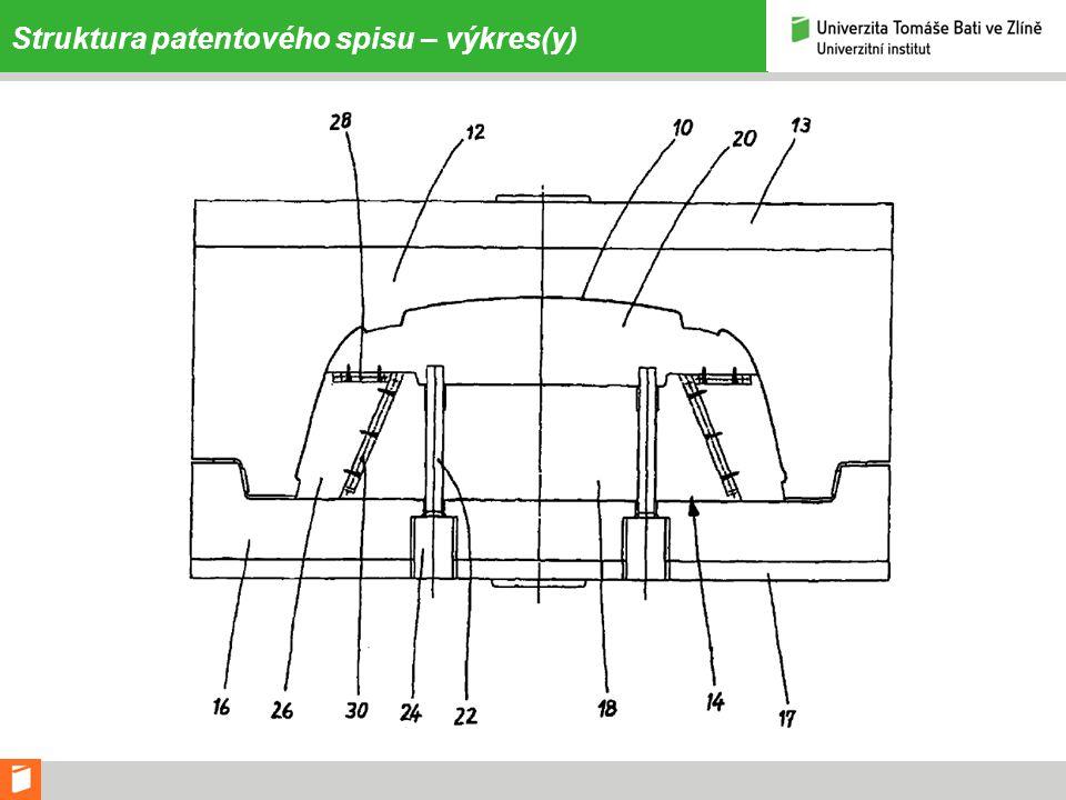 Struktura patentového spisu – výkres(y)