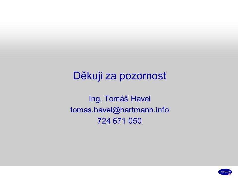Děkuji za pozornost Ing. Tomáš Havel tomas.havel@hartmann.info 724 671 050