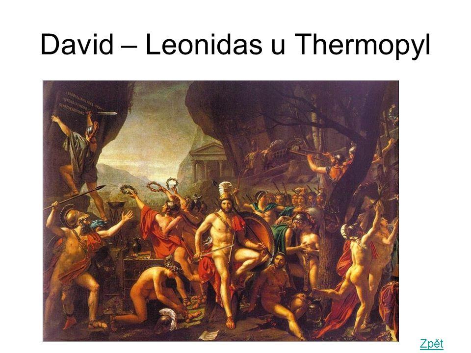 David – Leonidas u Thermopyl Zpět