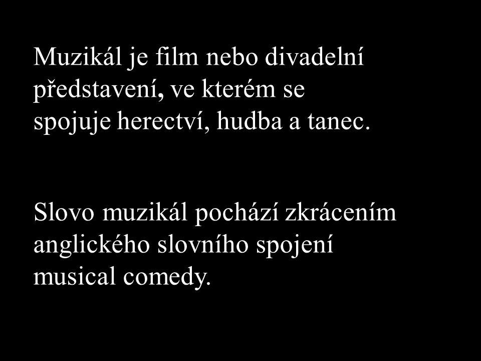 Muzikál je film nebo divadelní představení, ve kterém se spojuje herectví, hudba a tanec.