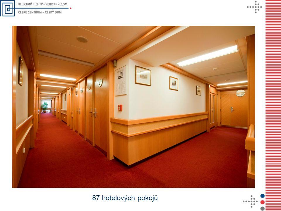 87 hotelových pokojů