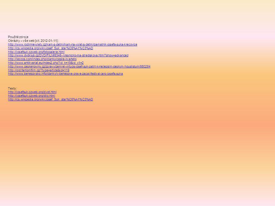Použité zdroje Obrázky – vše web [cit.