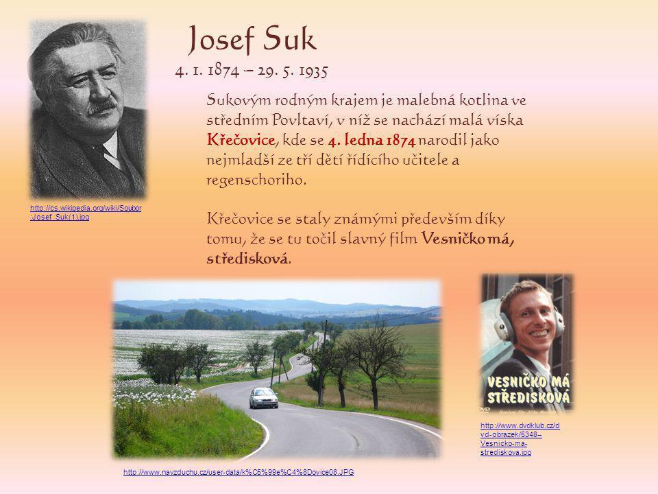 Josef Suk 4.1. 1874 – 29. 5.