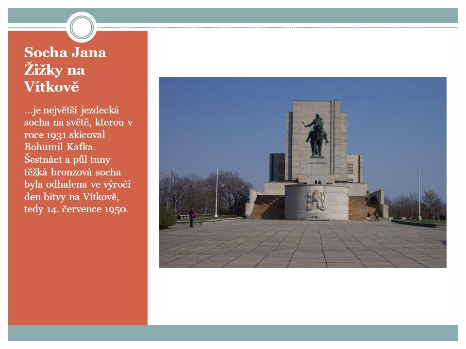 Socha Jana Žižky na Vítkově...je největší jezdecká socha na světě, kterou v roce 1931 skicoval Bohumil Kafka.