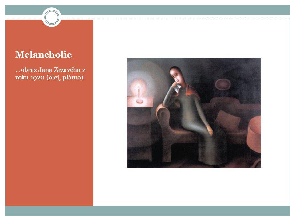 Melancholie...obraz Jana Zrzavého z roku 1920 (olej, plátno).