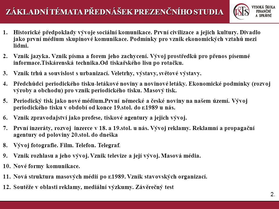 PaedDr.Emil Hanousek,CSc., 14002@mail.vsfs.cz :: 9.přednáška 6 Vznik rozhlasu a jeho vývoj.