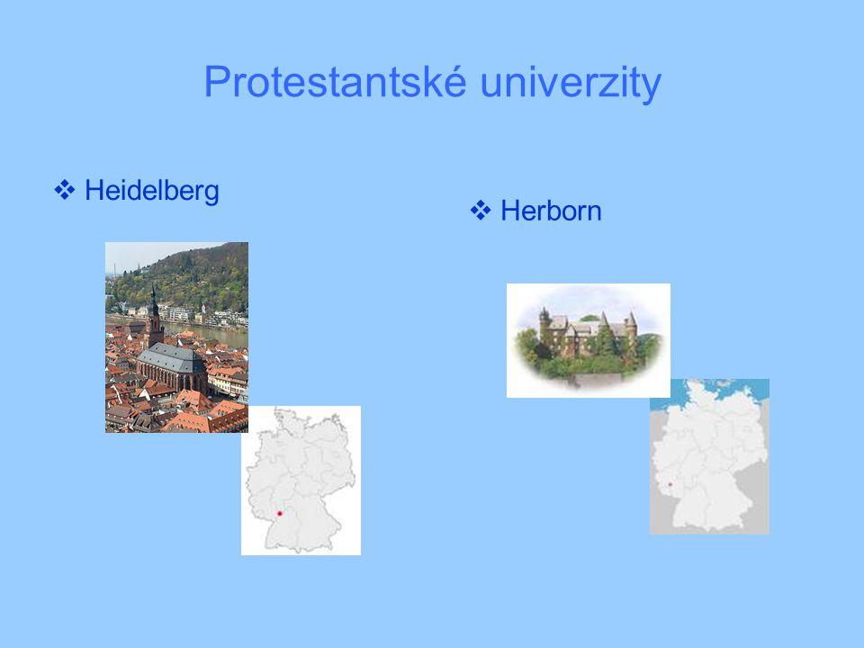 Protestantské univerzity  Heidelberg  Herborn