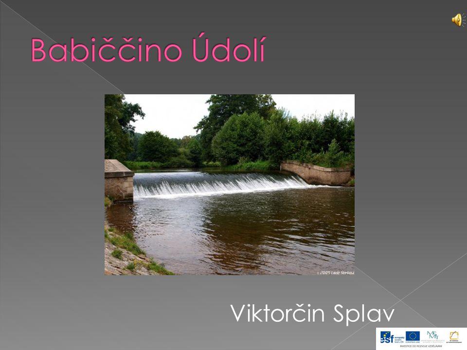  K nejnavštěvovanějším místům údolí patří Staré bělidlo, domek u Viktorčina splavu.