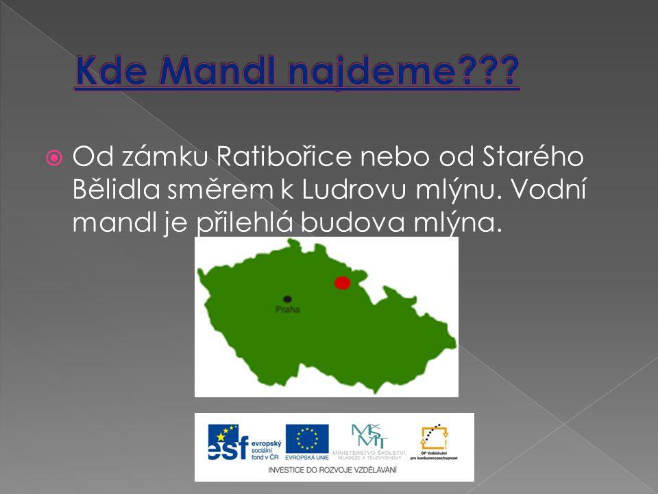  Od zámku Ratibořice nebo od Starého Bělidla směrem k Ludrovu mlýnu.