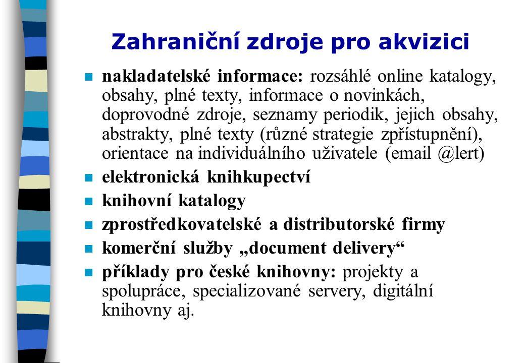 Elektronická knihkupectví v České republice njnje jich nejspíš zbytečně mnoho npnprovoz je s ohledem na náklady na jejich budování, údržbu, rozsah nabízených titulů i počet potenciálních zákazníků zřejmě drahý nabízejí jen velmi omezený rozsah české produkce nabídka je (jak jinak) marketingově orientována (nabízené slevy versus způsob úhrady) nonorientace na individuální zákazníky, případně podnikatelskou sféru