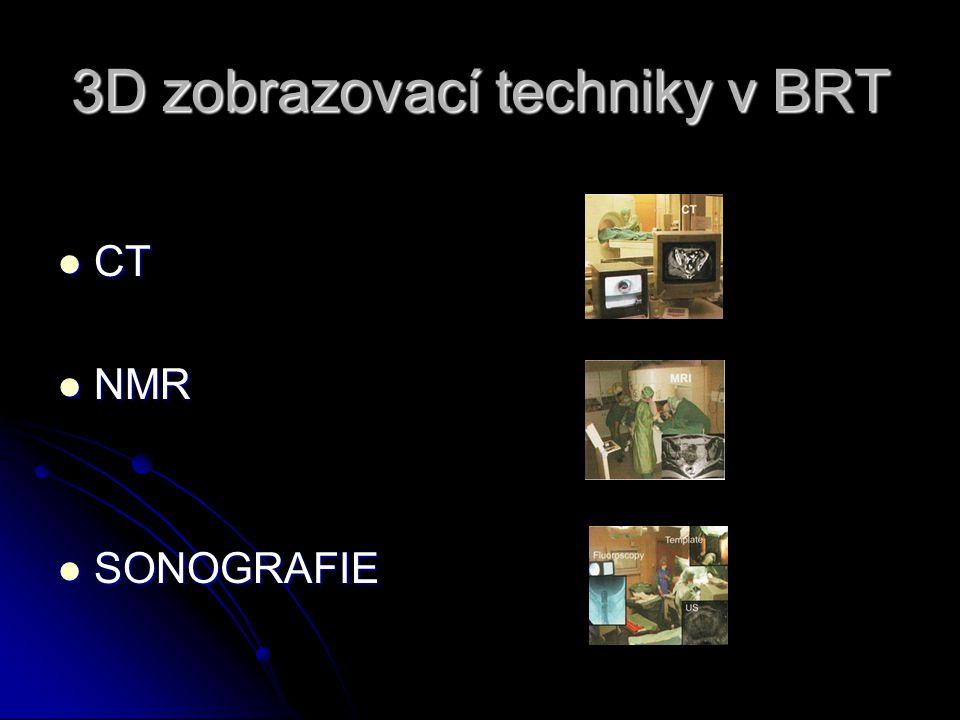 3D zobrazovací techniky v BRT  CT  NMR  SONOGRAFIE
