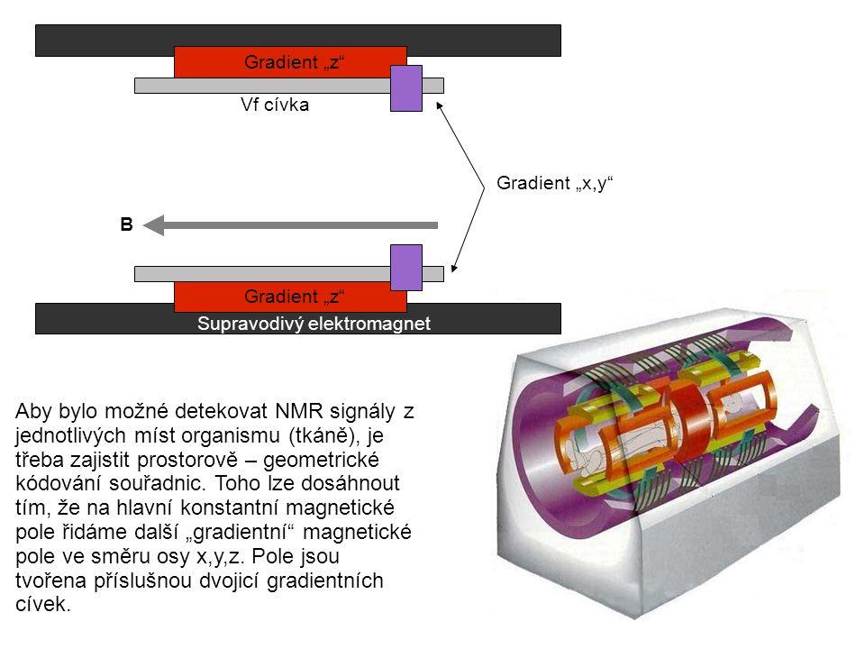 Aby bylo možné detekovat NMR signály z jednotlivých míst organismu (tkáně), je třeba zajistit prostorově – geometrické kódování souřadnic. Toho lze do