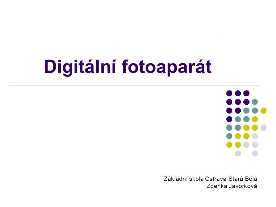 Expozice Při stisknutí spouště fotoaparát vyfotí scénu před objektivem přístroje.