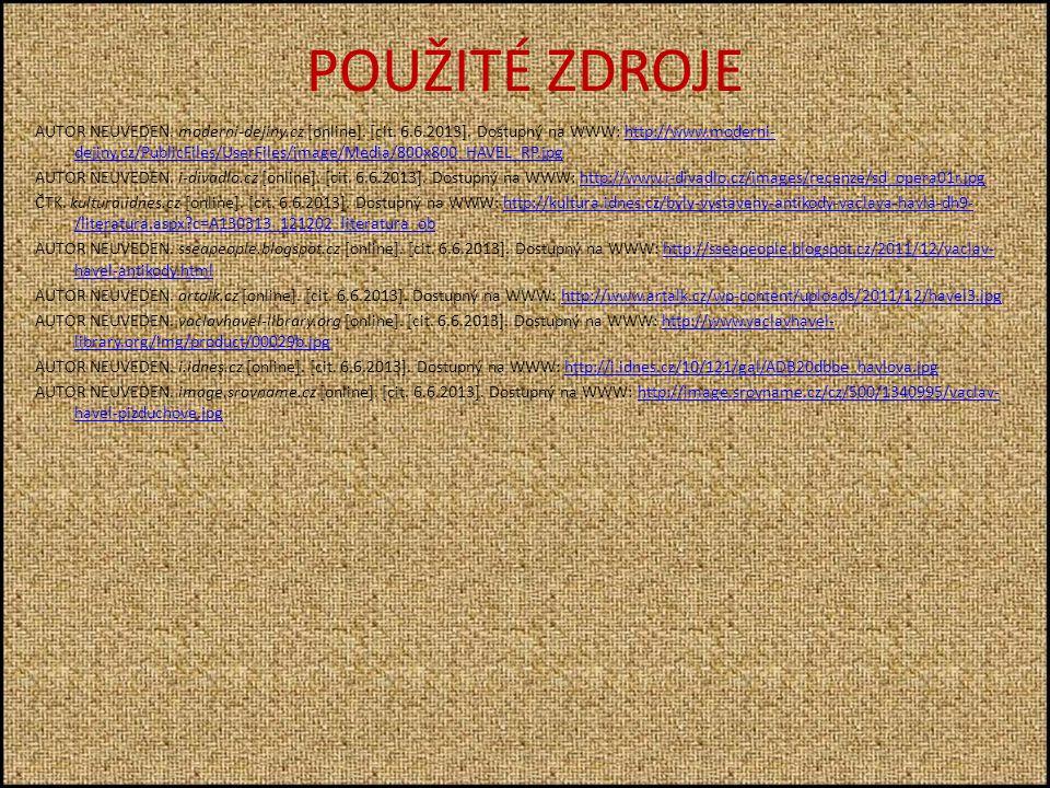 POUŽITÉ ZDROJE AUTOR NEUVEDEN. moderni-dejiny.cz [online].