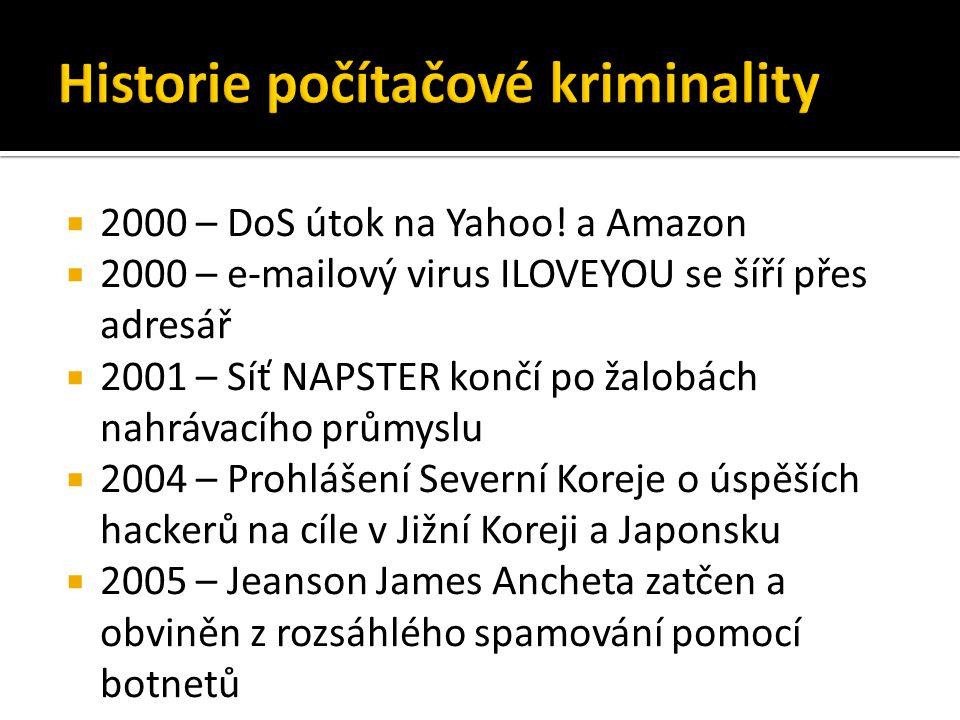  2000 – DoS útok na Yahoo.