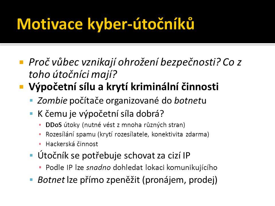 Internet Malware PC / systém Běžící program (např.