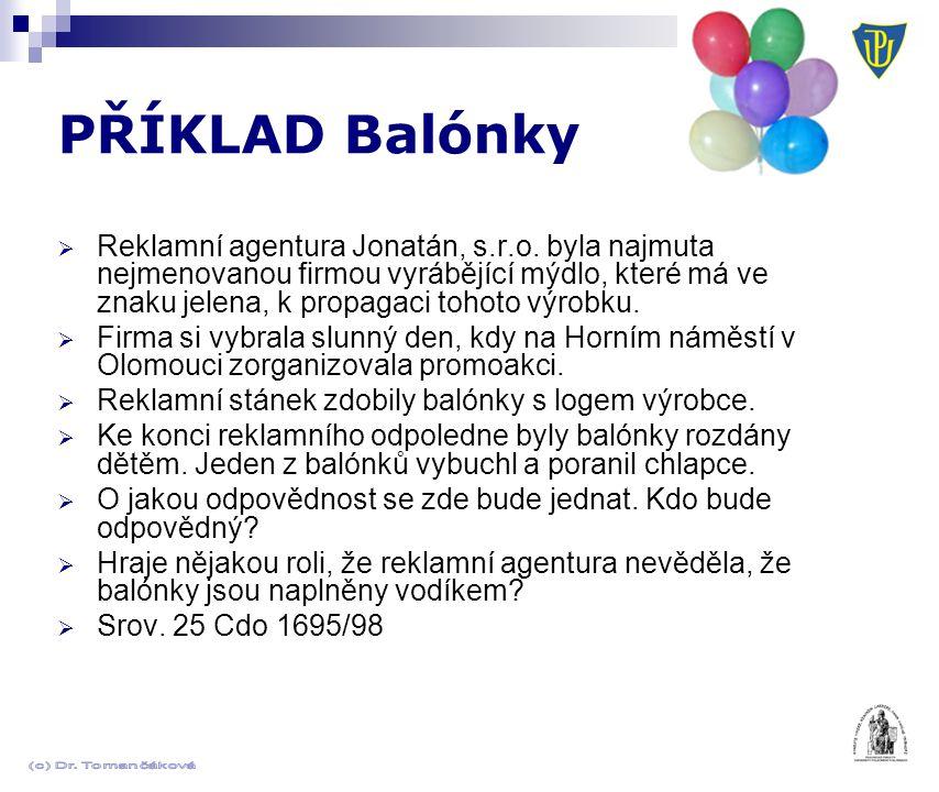 PŘÍKLAD Balónky  Reklamní agentura Jonatán, s.r.o.