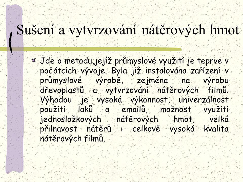 Sušení a vytvrzování nátěrových hmot Obr. 71 Schéma kaskádovitého urychlovače 1 – wolframová žhavící katoda, 2 – titanové okénko, 3 – kaskádová urychl
