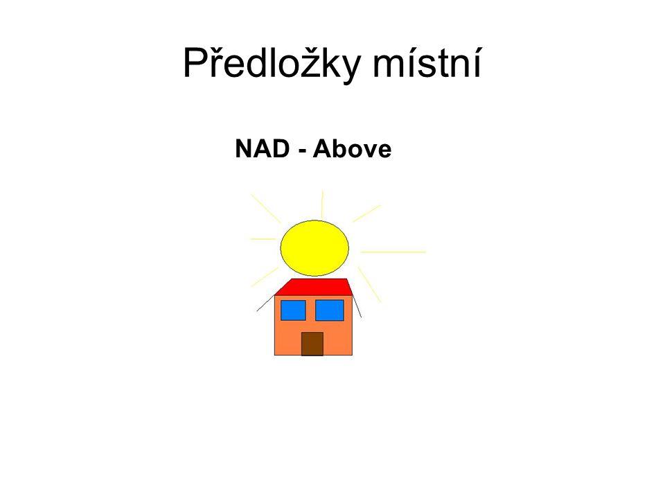 Předložky místní NAD - Above