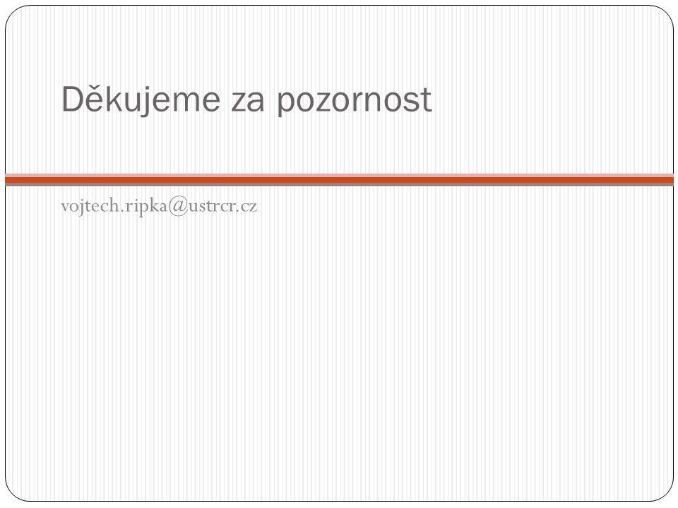 Děkujeme za pozornost vojtech.ripka@ustrcr.cz