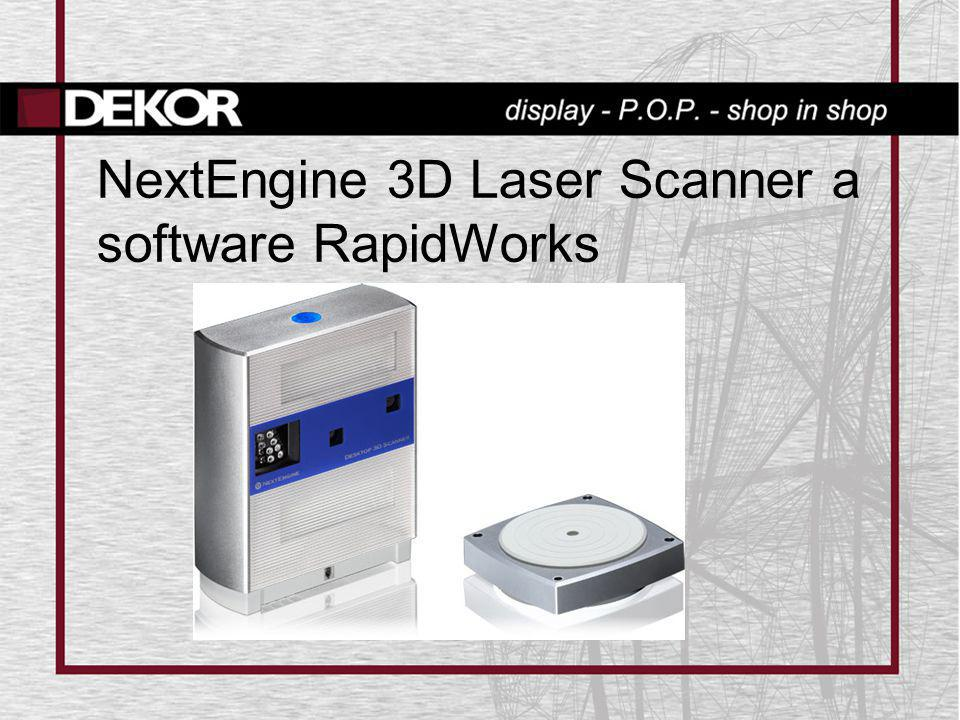 NextEngine 3D Laser Scanner a software RapidWorks
