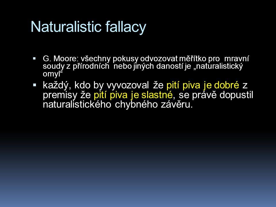 " 2.David Hume: ""is neznamená ""ought  3."