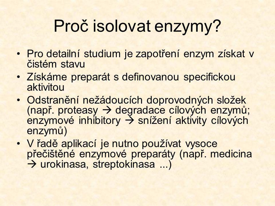 Proč isolovat enzymy.