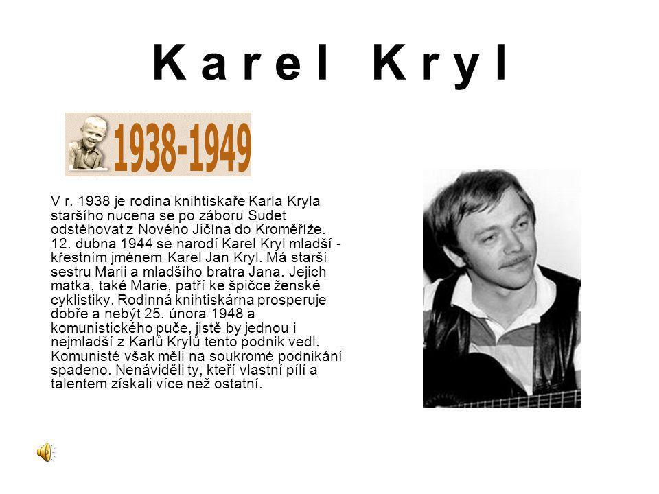 Karel Kryl intenzivně pracuje ve Svobodné Evropě na svých hudebních pořadech, ale vypomáhá také jako sportovní redaktor.