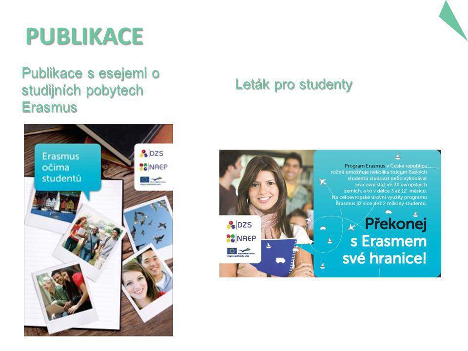 PUBLIKACE Publikace s esejemi o studijních pobytech Erasmus Leták pro studenty
