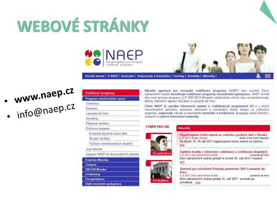 WEBOVÉ STRÁNKY • www.naep.cz • info@naep.cz