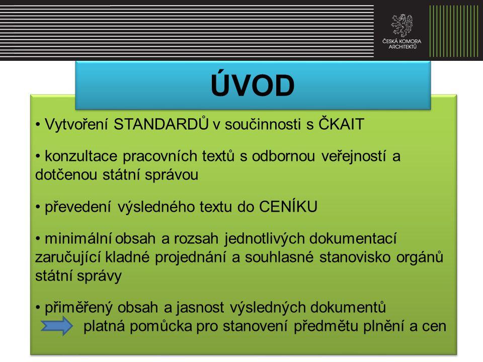 • výkony a honoráře ČKA 1997 a 2003 • Standardy výkonů pro projektování pozemních staveb (Dashöffer 1997) • Standard výkonů – Slovenská komora • ČKAIT PROFESIS • Výkonové tabulky větších ateliérů autorizovaných osob • Systém UNIKA • výkony a honoráře ČKA 1997 a 2003 • Standardy výkonů pro projektování pozemních staveb (Dashöffer 1997) • Standard výkonů – Slovenská komora • ČKAIT PROFESIS • Výkonové tabulky větších ateliérů autorizovaných osob • Systém UNIKA Všeobecné podklady