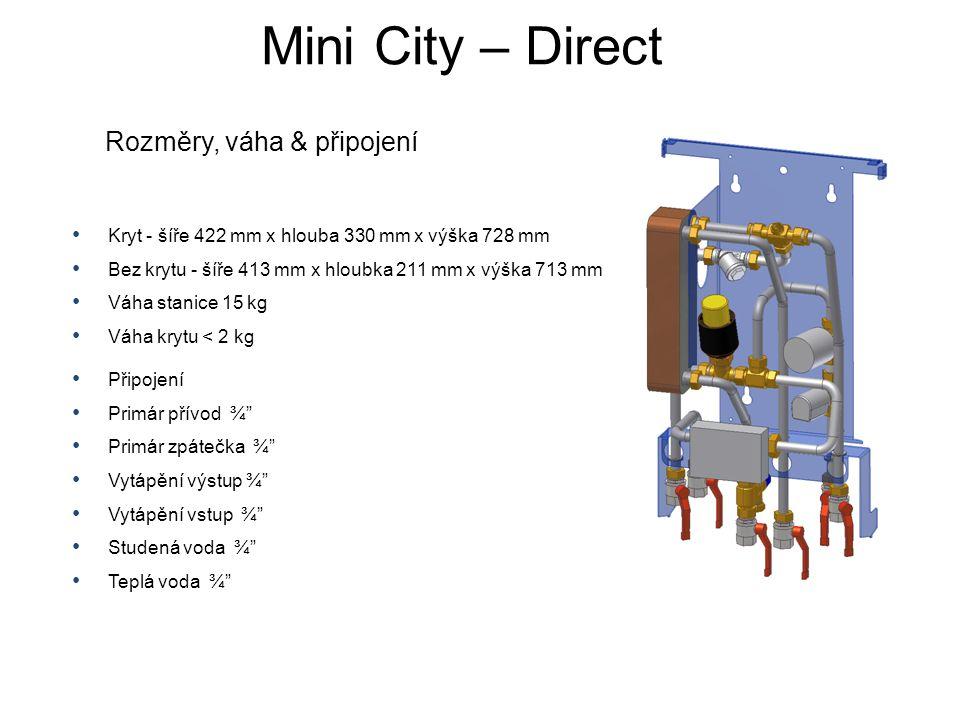 • Kryt - šíře 422 mm x hlouba 330 mm x výška 728 mm • Bez krytu - šíře 413 mm x hloubka 211 mm x výška 713 mm • Váha stanice 15 kg • Váha krytu < 2 kg