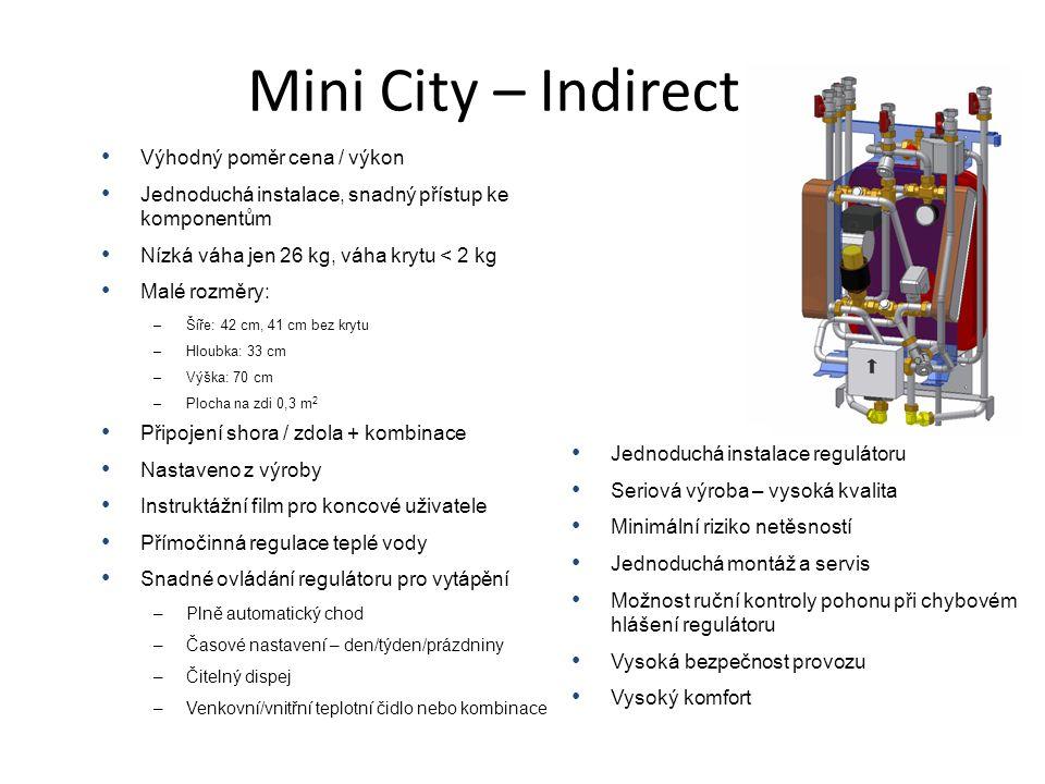 • Výhodný poměr cena / výkon • Jednoduchá instalace, snadný přístup ke komponentům • Nízká váha jen 26 kg, váha krytu < 2 kg • Malé rozměry: –Šíře: 42