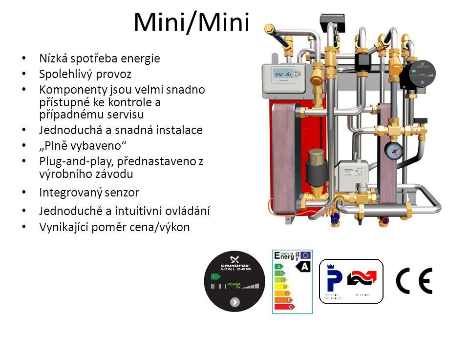 • Nízká spotřeba energie • Spolehlivý provoz • Komponenty jsou velmi snadno přístupné ke kontrole a případnému servisu • Jednoduchá a snadná instalace