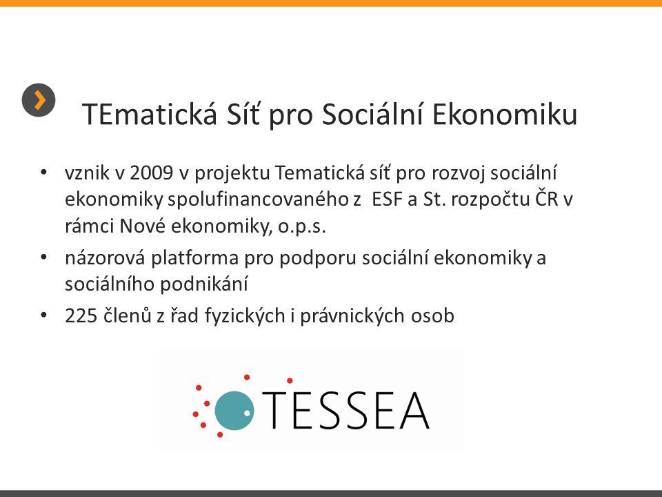 • vznik v 2009 v projektu Tematická síť pro rozvoj sociální ekonomiky spolufinancovaného z ESF a St. rozpočtu ČR v rámci Nové ekonomiky, o.p.s. • názo