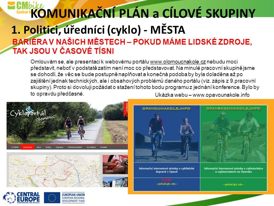 Omlouvám se, ale presentaci k webovému portálu www.olomoucnakole.cz nebudu moci představit, neboť v podstatě zatím není moc co představovat. Na minulé