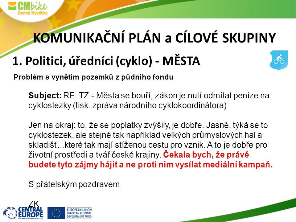 Subject: RE: TZ - Města se bouří, zákon je nutí odmítat peníze na cyklostezky (tisk.
