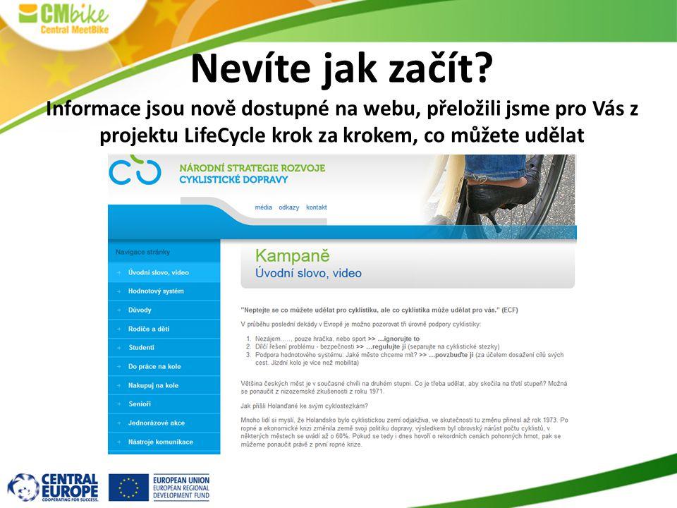 Nevíte jak začít? Informace jsou nově dostupné na webu, přeložili jsme pro Vás z projektu LifeCycle krok za krokem, co můžete udělat
