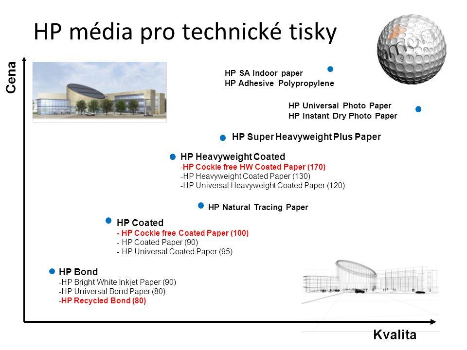 Unikátní patentovaná řešení HP • Proč HP Recycled Bond – Vyrobený ze 100% základního recyklovaného papíru – Přirozeně bílý, bez optických zjasňovačů a chlorového bělidla • Proč HP Universal Bond and Bright White – Od října nová ColorPRO technologie – Ostřejší, jemnější detaily, širší barevný rozsah, sytější černá – Rychlejší doba schnutí s pigmentovými inkousty • Proč Cockle-free papers – Dokáže přijmout velké množství inkoustu bez zvlnění a ztráty tvaru – Nízká gramáž 100 and 170 g/m 2 zaručí snadnou manipulaci – Jedinečné řešení na trhu • Proč HP Coated media – Přísně testovaná a patentovaná povrchová vrstva pro optimální spojení HP inkoustů a HP tiskáren.