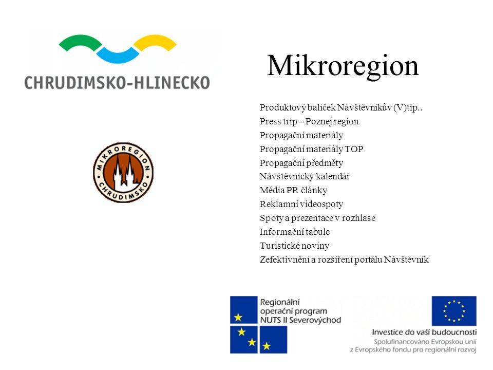Mikroregion Produktový balíček Návštěvníkův (V)tip.. Press trip – Poznej region Propagační materiály Propagační materiály TOP Propagační předměty Návš