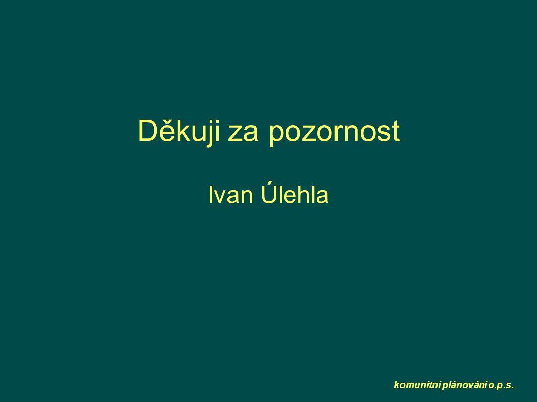 komunitní plánování o.p.s. Děkuji za pozornost Ivan Úlehla