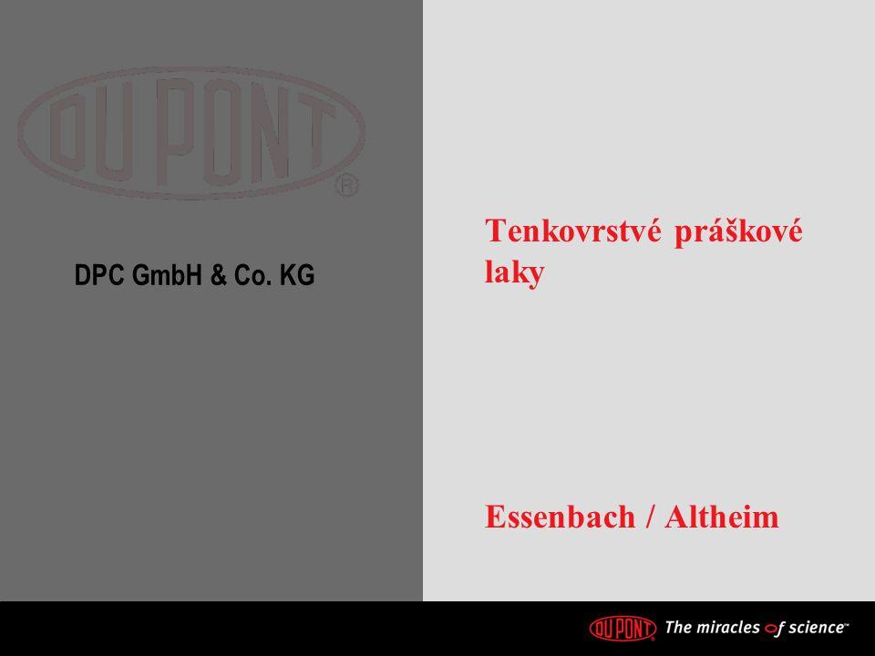 DPC GmbH & Co. KG Tenkovrstvé práškové laky Essenbach / Altheim