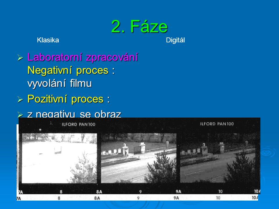 1. fáze Expozice K expozici dojde stisknutím spouště.