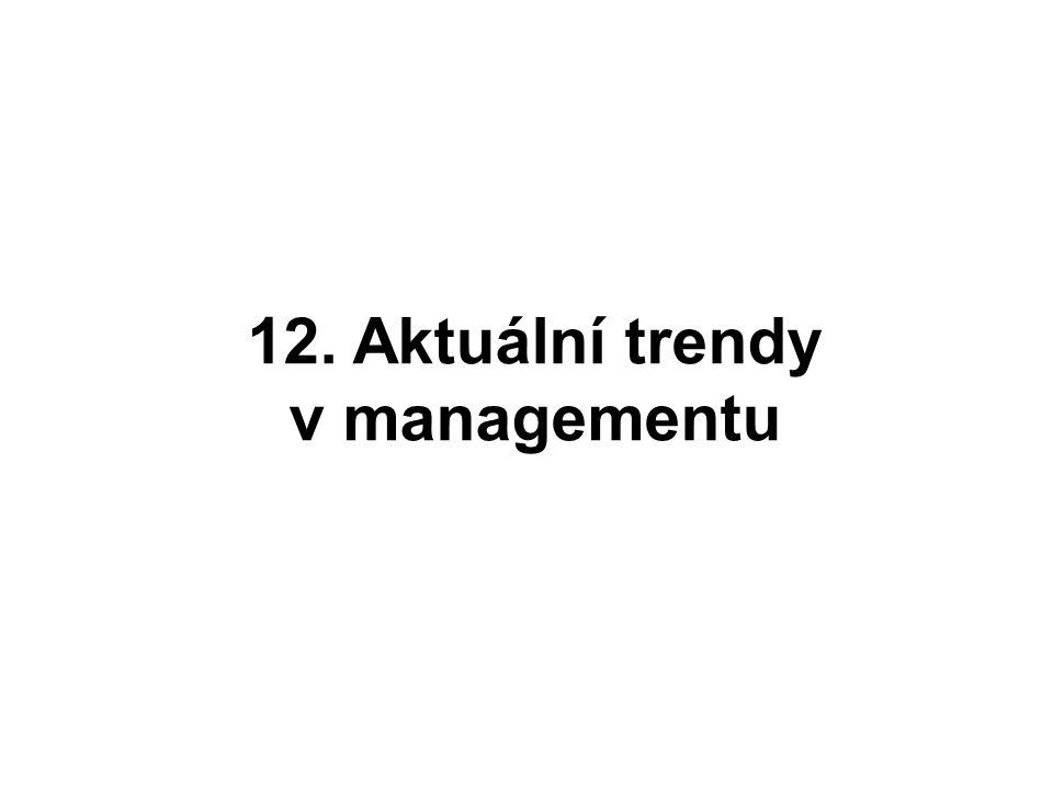 12. Aktuální trendy v managementu